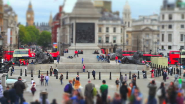 London Trafalgar Square (Tilt Shift Effect)