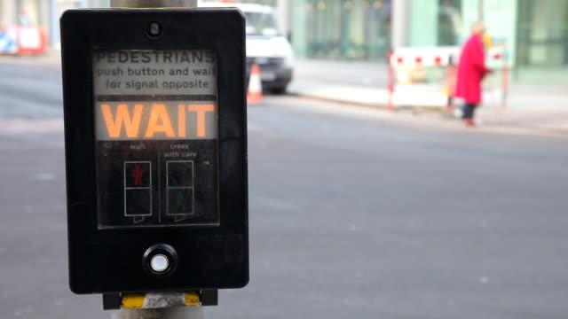 London traffic lights button