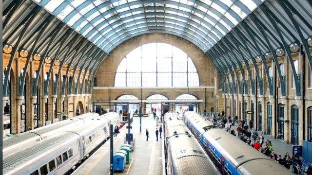 Londoner Bahnhof Personen Bewegung in der rush hour, Zeitraffer