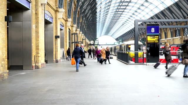 London train tube underground station, passengers in rush hour, England, UK
