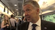 London Transport Commissioner Mike Brown says the new Bombardier trains are 'state of the art'