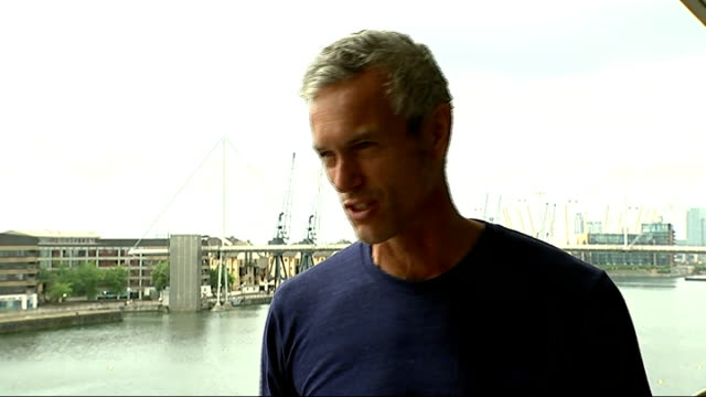 London Royal Victoria Dock ExCeL Exhibition Centre EXT Mark Foster interview SOT