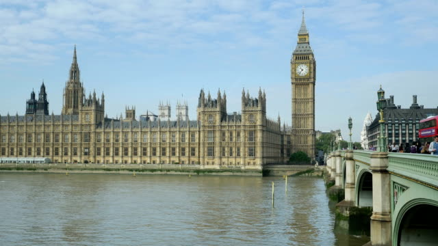 PAN London Westminster Bridge And Big Ben (4K/UHD to HD)