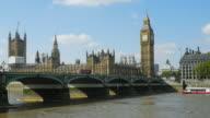 Londra ponte di Westminster e il Big Ben (UHD