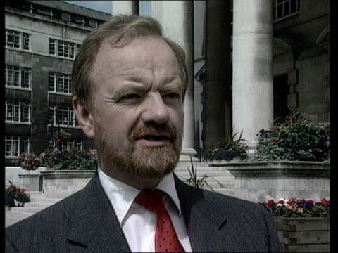 London Westminster CMS Robin Cook MP intvwd SOT If Treasury get their way we will have no help for industry