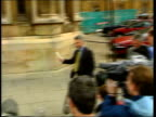London Westminster EXT SEQUENCE Palace of Westminster as voice of Sir Michael Spicer MP heard announcing result of first Conservative Party...