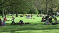 Londoners and tourists took advantage of the warm weather Wednesday basking in Spring temperatures of more than 20C