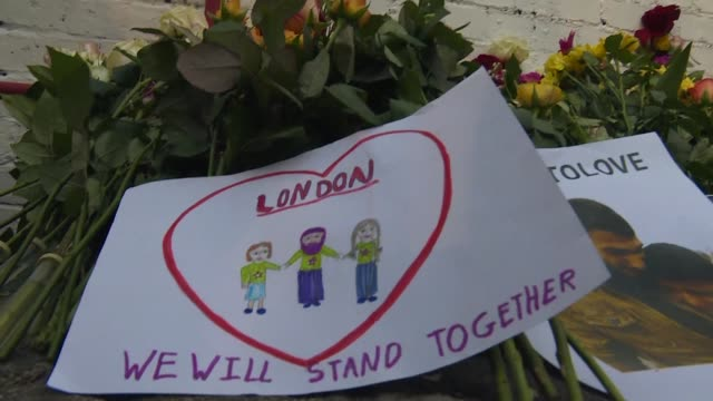 Londoners bearing flowers and messages of solidarity gathered Monday at the spot where a man ploughed a van into Muslims leaving prayers at a mosque...