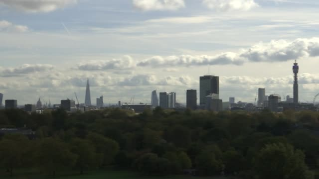 Londoners campaign to preserve historic views ENGLAND London Primrose Hill EXT **Vox pops overlaid SOT** PAN view from Primrose Hill including The...