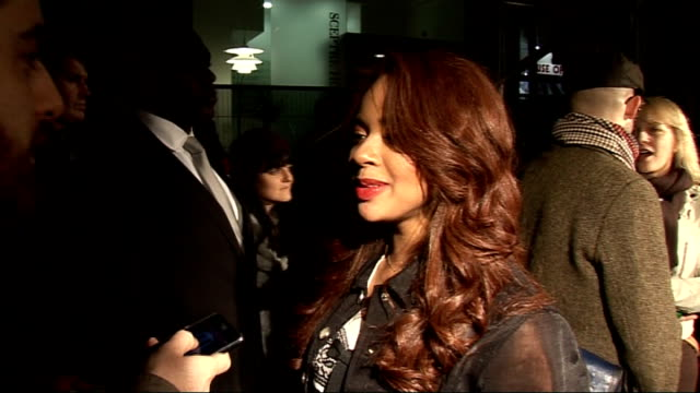 London's Regent Street Christmas lights interviews with celebrities GVs Alexis Jordan Alexis Jordan interview SOT On the crowds On Jay Z focused and...
