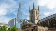 LONDON:Time Lapse of The Shard and Southwark Cathedral