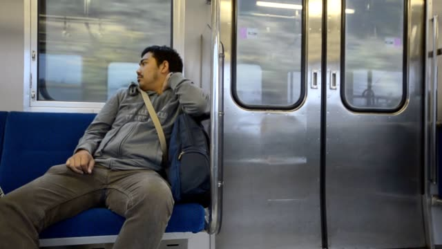 lonely men in subway