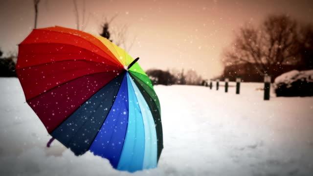 Einsam Regenschirm