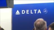 KTLA Long Lines at Delta Air Lines CheckIn Counter at LAX