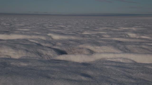 Long Panning Shot of the Glacial Ice Sheet