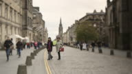 Long shot across the Royal Mile in Edinburgh.