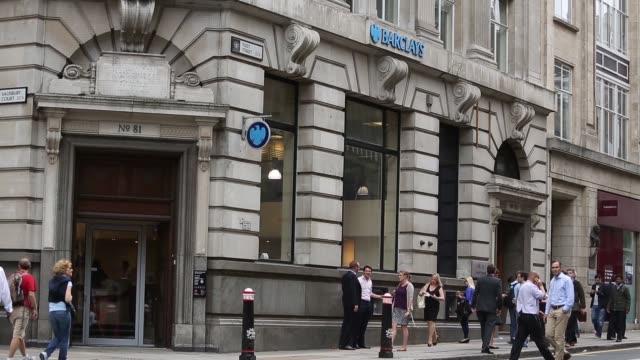 Long Shot Barclays Bank branch on Fleet Street