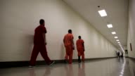 Long Shot detainees walk back to their cells The facility the largest and newest Immigration and Customs Enforcement detention center in California...