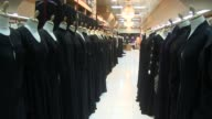 Long shot Emirati Traditional Clothing Store in Abu Dhabi United Arab Emirates Shot on November 2012