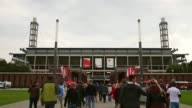 Long Shot general view of the RheinEnergiestadion prior to the Second Bundesliga match between 1 FC Koeln and 1 FC Kaiserslautern at...