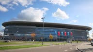 Long Shot general view of the Wirsol RheinNeckar Arena prior to the Bundesliga match between TSG 1899 Hoffenheim and Hertha BSC Berlin at Wirsol...