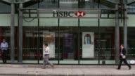 Long Shot HSBC Bank logo and signage