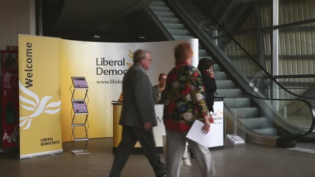 Long Shot LibDem conference entrance The Liberal Democrat Autumn conference began in Glasgow on the 13th of September where the leader Nick Clegg...