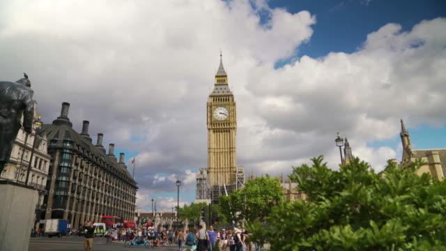 Long shot of Big Ben taken from Parliament Square.
