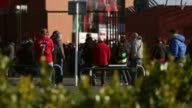 Long shot of fans in front of Anfield Stadium Liverpool v Swansea on February 17 2013 in Liverpool England