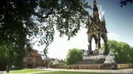 Long shot of the Albert Memorial in central London.