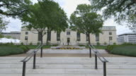 Long shot of the exterior of the National Academy of Sciences, Washington.