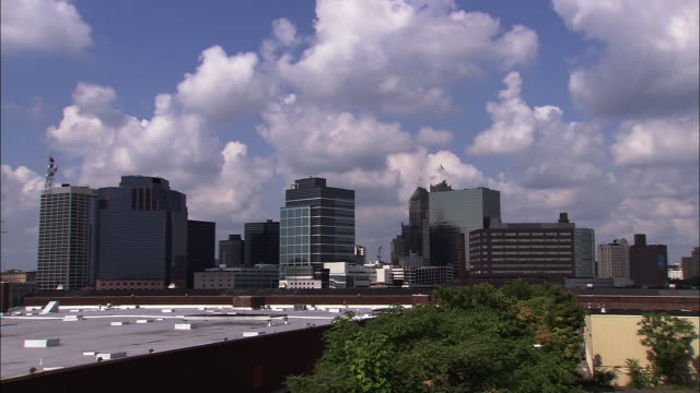 A long shot of the skyline of the city of Newark