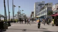 Long shot of Venice Beach promenade World renowned Venice Beach is an ocean front community best known for its circuslike beachfront walk that...