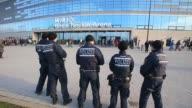 Long Shot police officers in front of stadium General Views of the Wirsol Rhein Neckar Arena prior to the Bundesliga match between 1899 Hoffenheim...