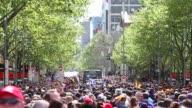 Long Shot the 2013 AFL Grand Final Parade on September 27 2013 in Melbourne Australia