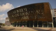 Long Shot Wales Millennium Centre Cardiff on October 23 2013 Wales Millennium Centre is an arts centre located in the Cardiff Bay area of Cardiff...