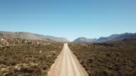 Long straight gravel road
