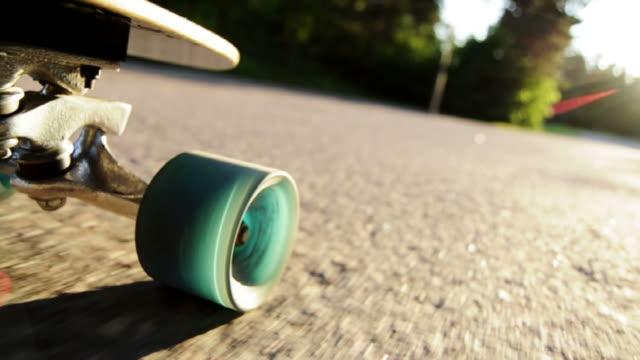 Longboard Downhill Sunset - Skateboarding