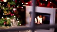 Look auf Weihnachts-Abendessen