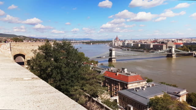 Looking At View On Buda Castle Hill In Budapest