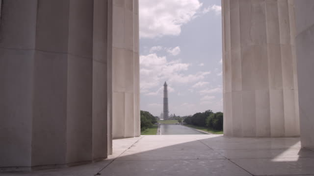 WS Looking at Washington Monument from Lincoln Memorial / Washington DC, United States