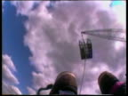 Looking back toward bungee platform during descent UK