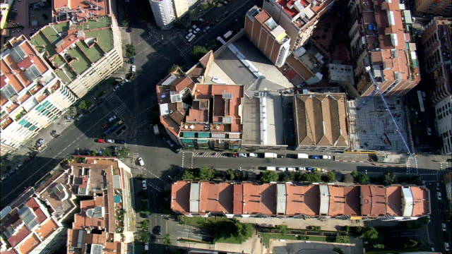 Looking Down On Barcelona  - Aerial View - Catalonia, Barcelona, Spain