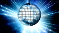 Loop: blue disco ball