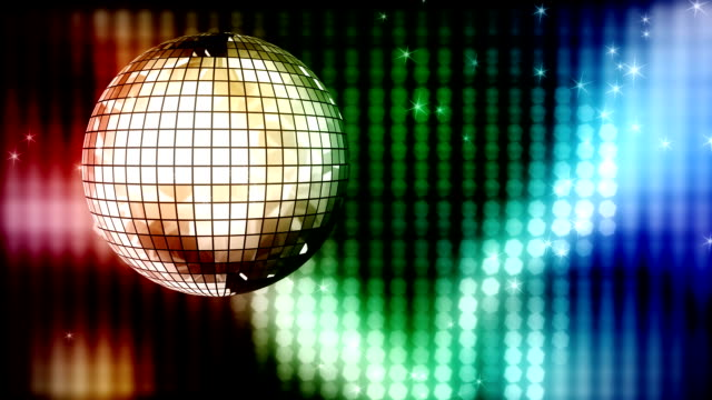 Loop: colorful disco ball