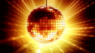 Loop golden disco ball