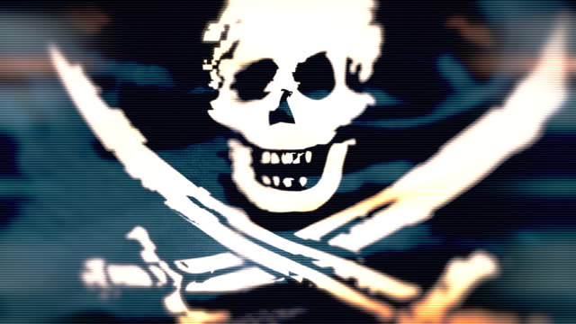 Loop Pirate Flag with distortion