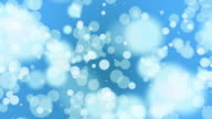 Loopable abstract blue soft particle background