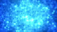 Loopable abstract triangles background blue
