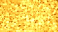 Loopable astratto triangoli sfondo oro